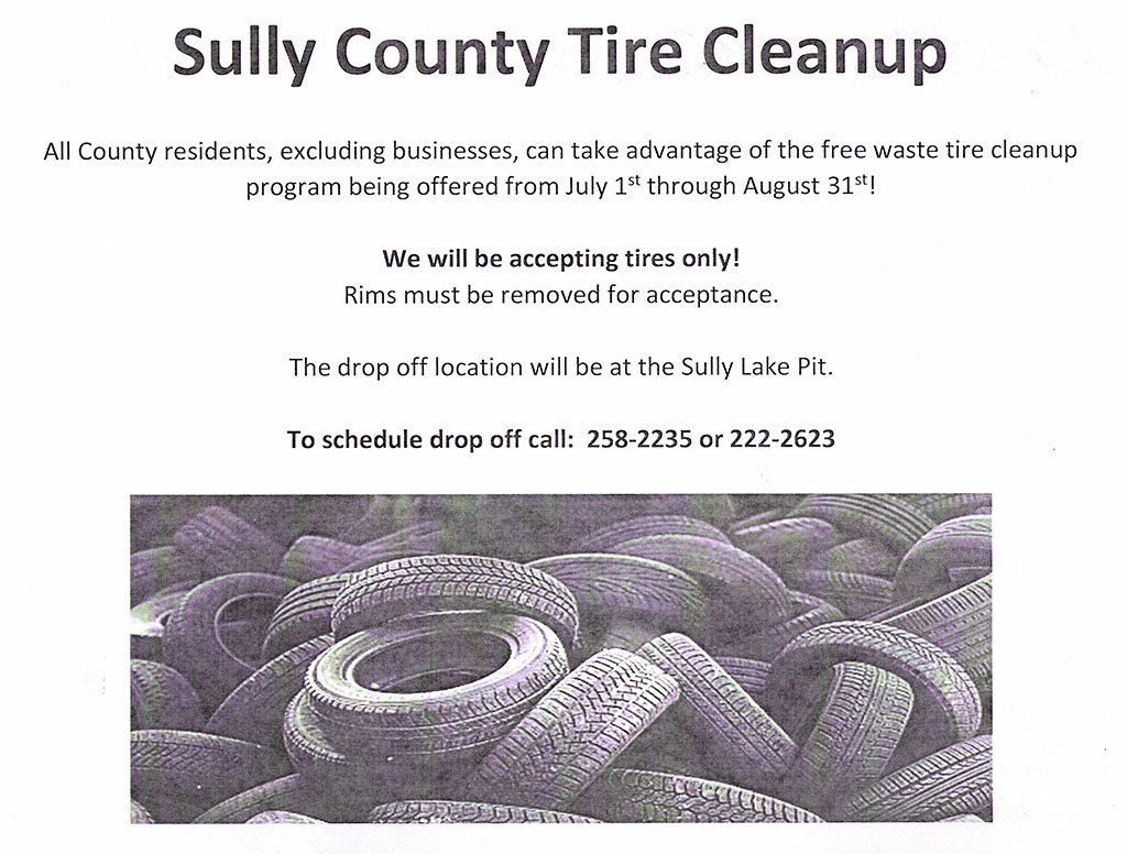 Sully County Tire Cleanup